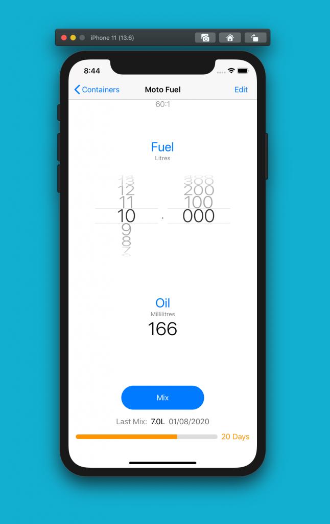 2 stroke premix calculator iOS app