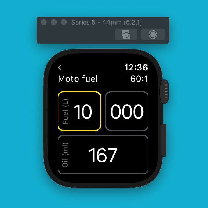 2 stroke premix calculator watch app