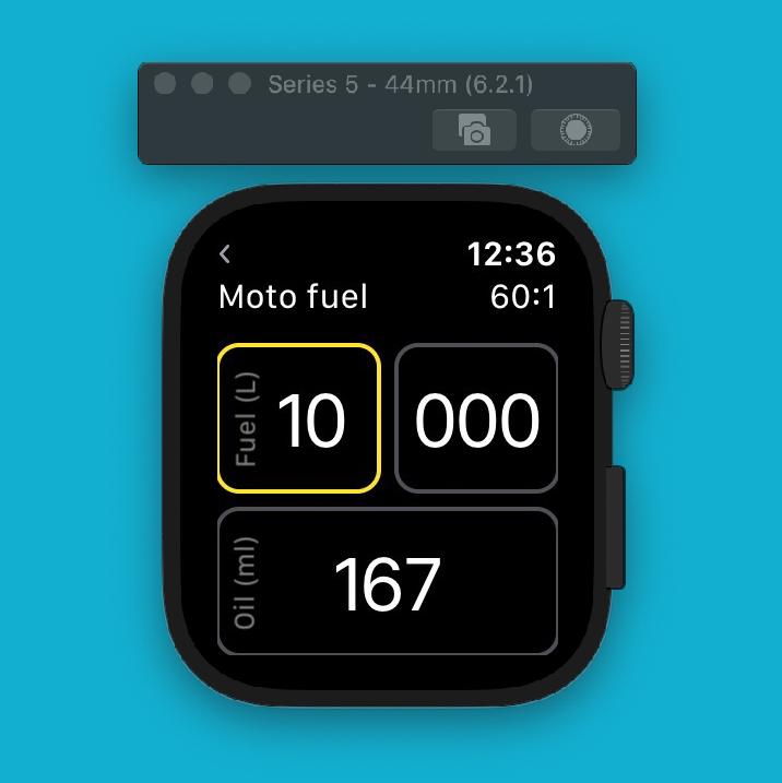 2 stroke premix calculator watch app